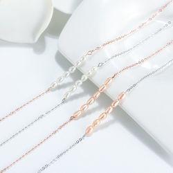 Мода Anklets украшения 925 серебристые пресноводных Pearl лодыжки