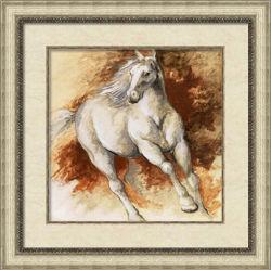 Met de hand geschilderd Olieverfschilderij met Wooden Frame voor Horse Image