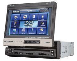 De 7 pulgadas de panel escamoteable coche reproductor de DVD (7318)