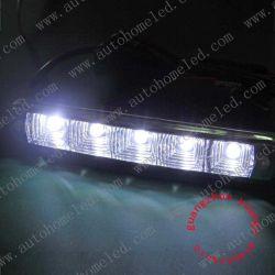 Populaires 12V double LED de couleur de lumière diurne DRL rond avec fonction de signal tournant voiture ampoule lampe haute qualité