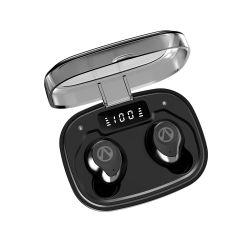 Cuffie intelligenti della radio di sport esterno di Tws LED Digital