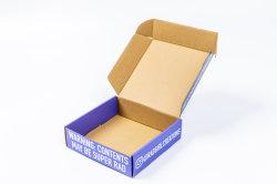 Custom матовая гофрированный картон духи косметика упаковочных коробок бумаги