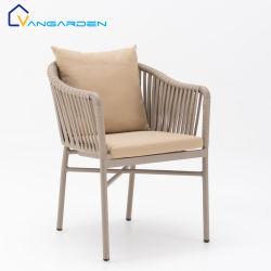 Vangarden Stackable Modern Commercial Restaurant Aluminum Outdoor Rope 다이닝 의자
