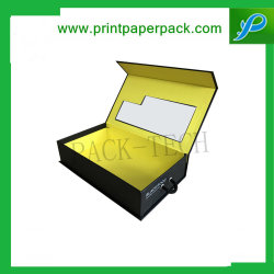 リムーバブルインサートソフト付きのカスタム磁気ギフトカードパッケージボックス [ 外部ボックスの終了 ] に触れます