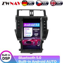Android 9.0 Tesla écran vertical Voiture Lecteur DVD pour Toyota Land Cruiser Prado 150 2010-2013 Navigation GPS de voiture
