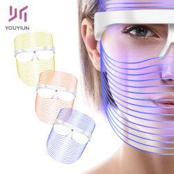 Cura di pelle antinvecchiamento della STAZIONE TERMALE di terapia di 3 colori LED di protezione della maschera della pelle di ringiovanimento della grinza dell'acne di rimozione dello strumento chiaro di bellezza