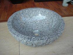 Ciotola Polished del dispersore della stanza da bagno di esecuzione della pietra del granito naturale eccellente del lavabo