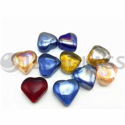 قلب جميل زجاجيّة مع مختلطة ألوان, يستعمل لأنّ زخرفة بينيّة