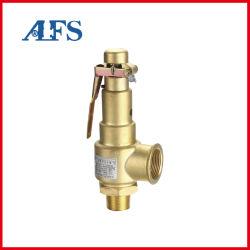 Industriële drukontlasting/reduceerklep/beveiliging/regelklep veer met volledige schroefdraad, messing Brons Veiligheidsklep van luchtcompressor met hendel (AK22X-16T)