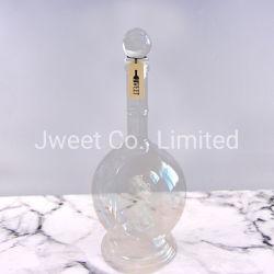 中彫刻が付いているカスタム長い首の楕円形のアルコール飲料のガラスビン
