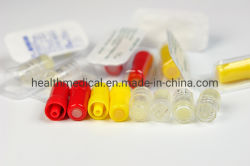 Inyección desechable médica el tapón amarillo tapa de la heparina se usa en conjunto de infusión