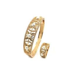 White Pearl gedecoreerd Shamaign Gold Bangle armband Fashion Jewelry Dames Cadeau
