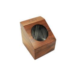 Single japonés de madera giratorio watch winder