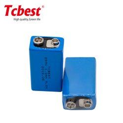 9V Non-Rechargeable 1200mAh 9V Taille des piles au lithium Lisocl2 er9V Batterie