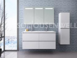 ミラーのキャビネットの浴室の家具を使って48インチの二重流しの虚栄心の含まれた側面のキャビネットの壁に取り付けられた虚栄心の流し