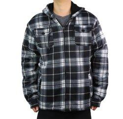 Manta de algodón para hombre liso al por mayor Zipper y chaqueta de chándal a prueba de viento Sudadera con capucha Fashion Plaid