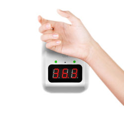 Spiritus desinfizierendes Touchless automatisches flüssiges Handdesinfizierer-Seifen-Zufuhr-und Digital-Thermometer-Temperatur-Messen