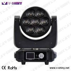 단계 DMX512 7PCS X 40W RGBW 4in1 LED 이동하는 맨 위 디스코 빛
