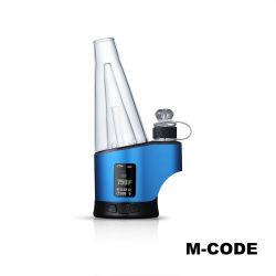 100% originele waterpijp Erig Mcode droge Kruid Wax DAB Verdampingskits met LED-licht en digitaal weergaveapparaat