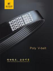 Envuelto en bandas de goma de poliuretano de PVC Industrial Auto Moto piezas de la transmisión sincrónica de transportador del ventilador del mando de diente de distribución de la correa trapezoidal acanalada Pk