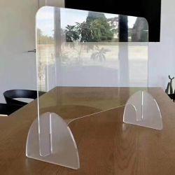 PMMA 固定パーティションスプレーによりプラスチック基板アクリルオフィスが公衆を防止 領域パーティション