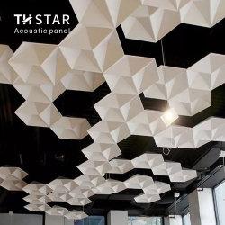 Th-Star 3D 100% polyester glasvezel akoestisch plafondpaneel