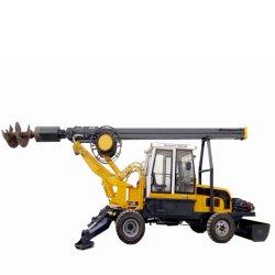 Perforazione rotativa su cingolato, pneumatica 180 a ruote piccole, meccanica Mini carro di perforazione portatile