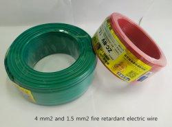 collegare elettrico approvato di costruzione di RoHS della Camera del PVC di calore del conduttore di 300V 500V 2mm 4mm del CE domestico dei collegamenti isolato PE resistente al fuoco di rame senza ossigeno blu rosso