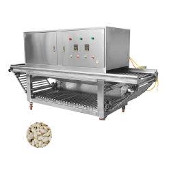 Sistema di erogazione dell'aria a secco macchina completamente automatica per la pelatura dell'aglio
