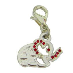 Commerce de gros logo en métal en alliage de zinc fait sur mesure le charme des bijoux personnalisés logo 3D'exquis splendide pendentif de conception pour bracelet (charme-10)