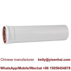 110 Verwarmingspijp van de Uitbreiding van /160 mm de Horizontale Condenserende Coaxiale voor de Muur Gehangen Boiler van het Gas