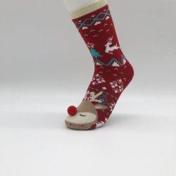 Natal de alta qualidade Bonitinha quente meias de mulheres