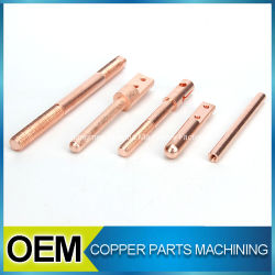 높은 정밀도는 빨간 구리 CNC 형 기계로 가공 이음쇠를 주문을 받아서 만들었다