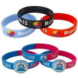 Couleur personnalisée en usine mixte bracelet en silicone Logo en contrebas du sport de l'activité de l'entreprise de mode de gros cadeau promotionnel silicium Bracelet avec la conception de l'énergie