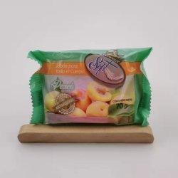 Bain de fruits de gros d'usine du Savon de 70g Peach fruits Savon de bain