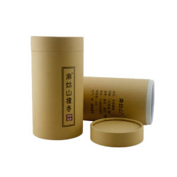 Comercio al por mayor ronda de tubo de papel reciclado de envases de té Caja de regalo de flores