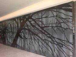 Алюминий лазерная гравировка дерева с декоративными панелями