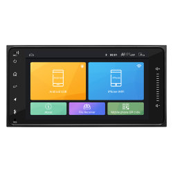"""공장 공급 2 DIN 7169 차량용 무전기 7"""" HD 터치 스크린 플레이어 MP5 SD/FM/MP4/USB/Aux/BT 차량 오디오 라디오 및 비디오 카 플레이어"""