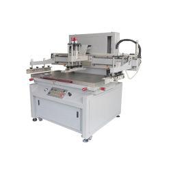 Machine van de Druk van de Serigrafie van de hoge Precisie de Halfautomatische Verticale Flatbed voor Vlak Blad