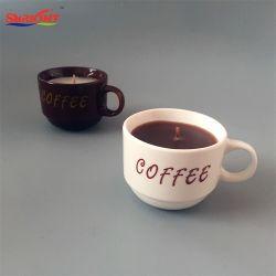 陶磁器のコーヒーカップの蝋燭の昇進のギフト