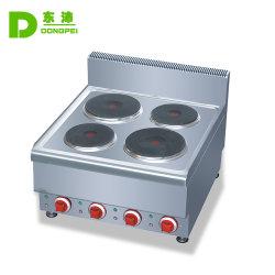 Aço inoxidável comercial 4 queimadores fogão fogão eléctrico