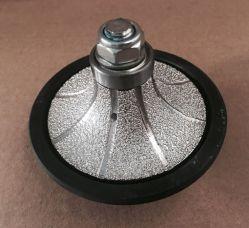 wiel van het Profiel van de Hand van de Diamant Ogee van 65105mm het Vacuüm Gesoldeerde voor het Scherpen van de Steen