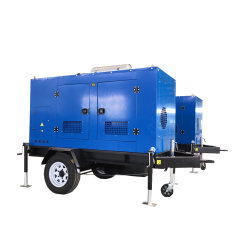 Ce ISO trois phase gaz 24 kw générateur portatif de biogaz/GPL/accueil de la biomasse
