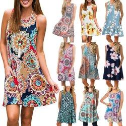 Dernière Mesdames robe d'impression occasionnels floral de l'Ouest