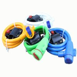Yh1498 Cable de bloqueo de acero antirrobo bicicleta fuerte Cable de bobina de cable Cable Bicicleta Moto combinación Cerradura de seguridad con 2 llaves Accesorios de bicicletas