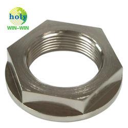 El recubrimiento de alta calidad Chroming acero al carbono de acero galvanizado de Ss de mecanizado CNC para perno y tuerca hexagonal de la brida de fijación de tornillo conector parte de Hardware