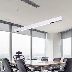 Una conexión perfecta aluminio moderna oficina de pared LED de iluminación de luz lineal para Centro Comercial de 50*65mm para la aplicación de comercio y con fines comerciales.
