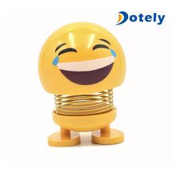 Visage souriant secouer la tête de ressort d'expression poupée Emoji