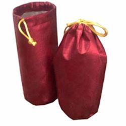 Bouteille de boisson en polyester Resuable Sac avec lacet de serrage