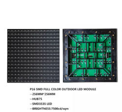 Fatto in modulo impermeabile anteriore dello schermo di visualizzazione del LED di colore completo P16 SMD del modulo di servizi della Cina LED TV IP68 RGB